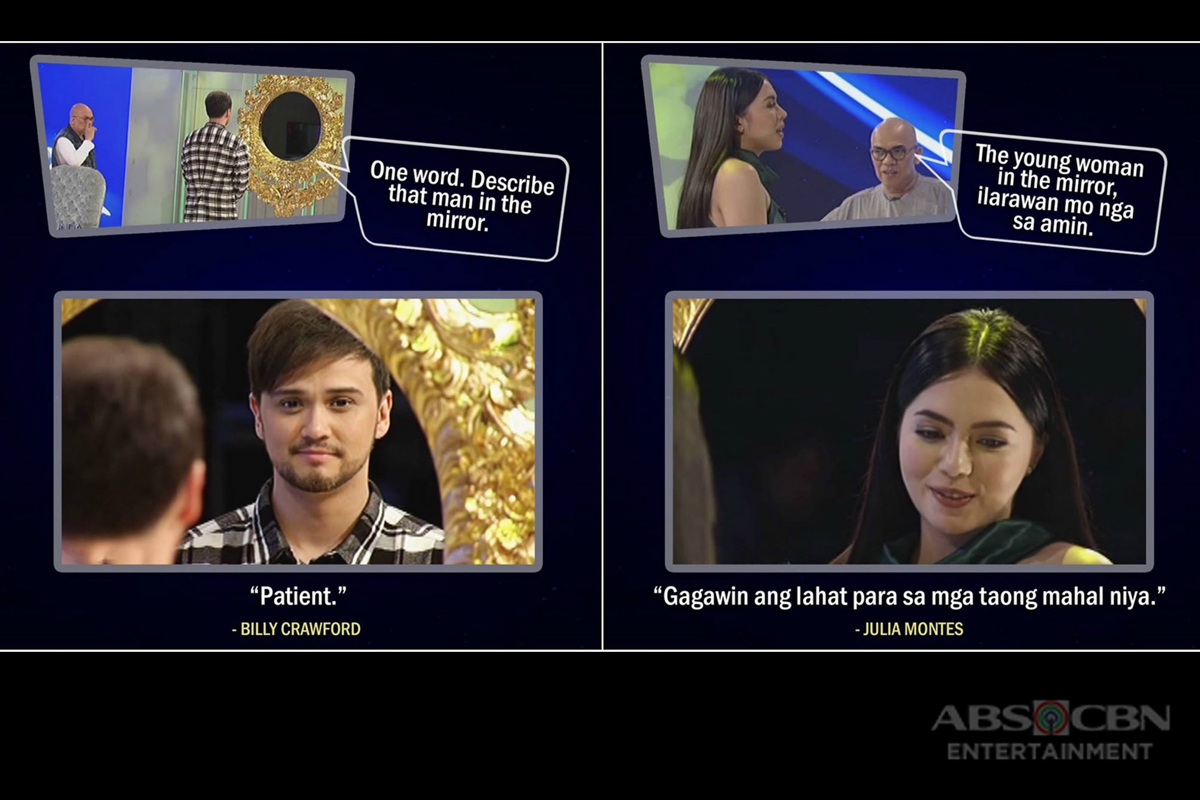 LOOK: This is how your favorite celebrities describe themselves in front of the golden mirror!