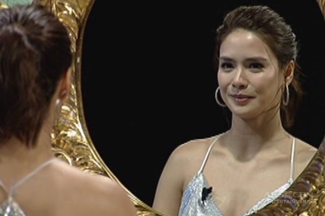 Erich Gonzales faces the TWBA golden mirror
