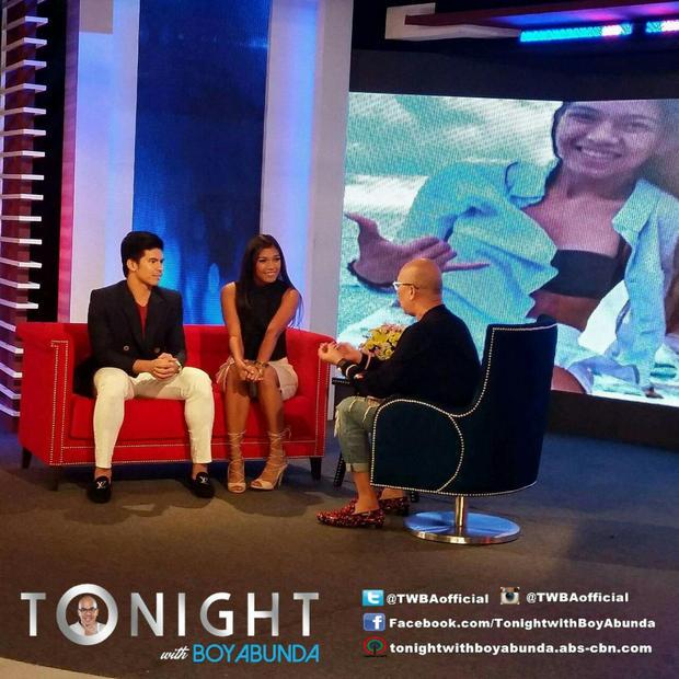 PHOTOS: Alyssa Valdez & Kiefer Ravena on Tonight with Boy Abunda