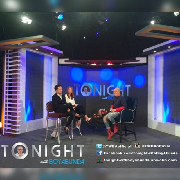 PHOTOS: John Lloyd Cruz and Bea Alonzo on Tonight with Boy Abunda