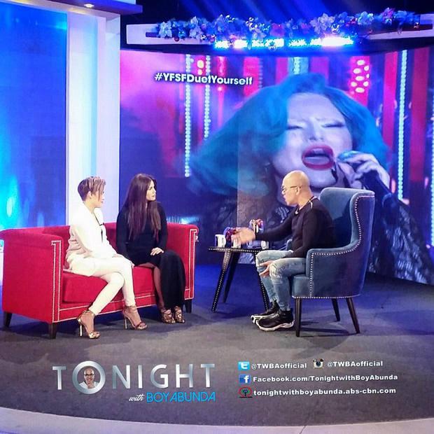 PHOTOS: Denise Laurel and KZ Tandingan on Tonight with Boy Abunda