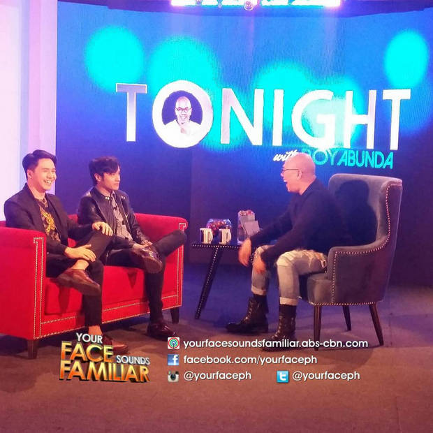 PHOTOS: Sam Concepcion and Kean Cipriano on Tonight with Boy Abunda