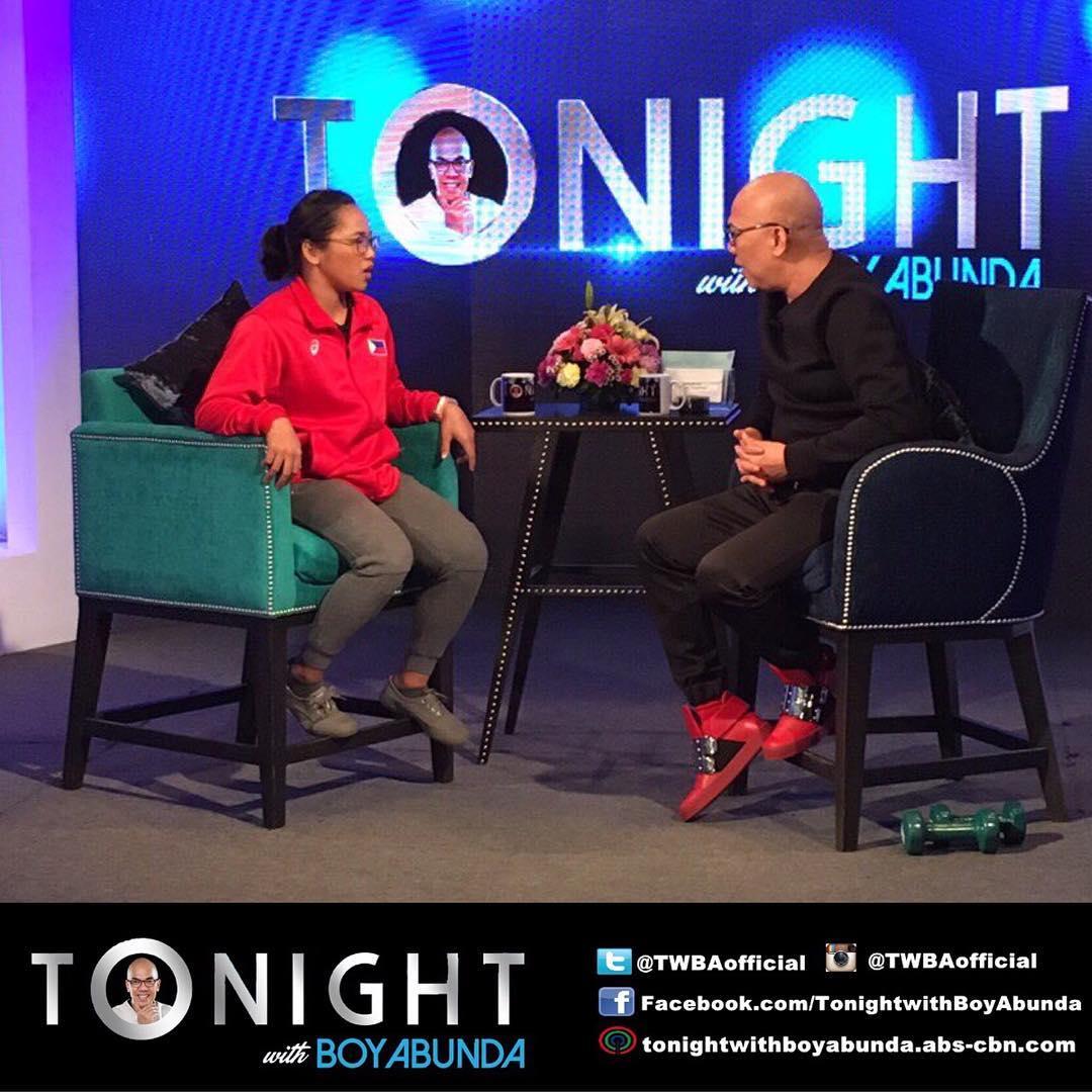 PHOTOS: Hidilyn Diaz on Tonight With Boy Abunda