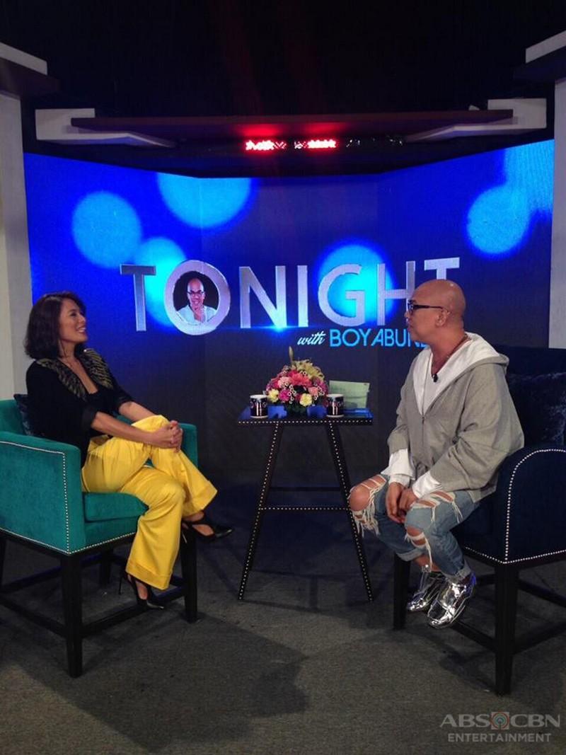 PHOTOS: Angel Aquino on Tonight with Boy Abunda