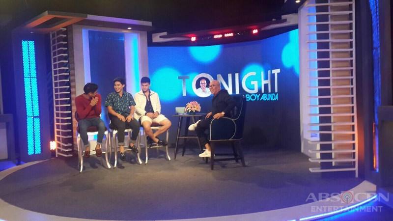 PHOTOS: Ronnie, Mccoy and Paulo on Tonight With Boy Abunda