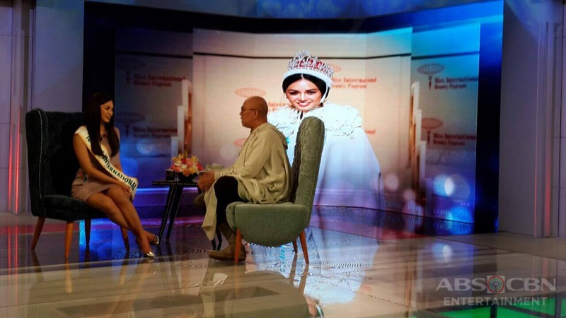 PHOTOS: Ms International Kylie Verzosa on Tonight With Boy Abunda
