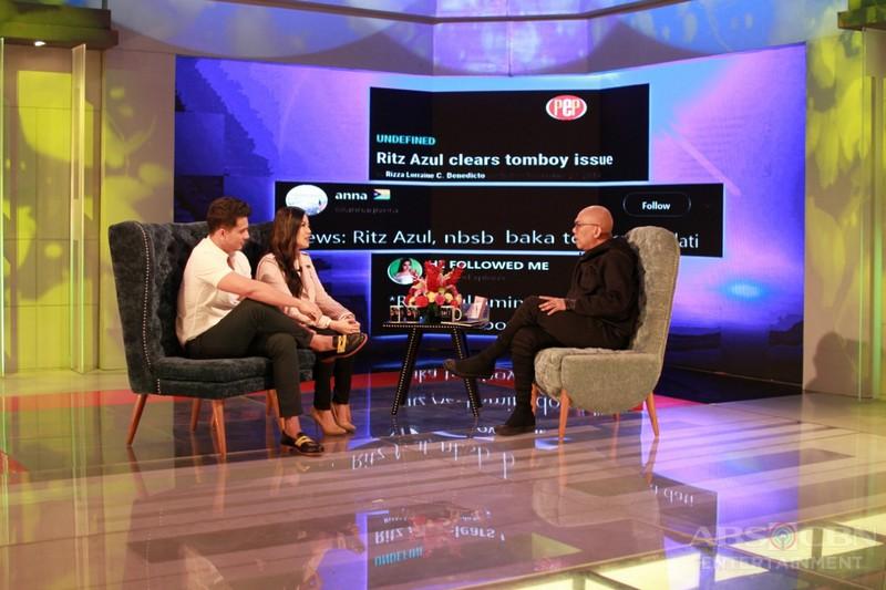 PHOTOS: Ejay Falcon and Ritz Azul on Tonight With Boy Abunda