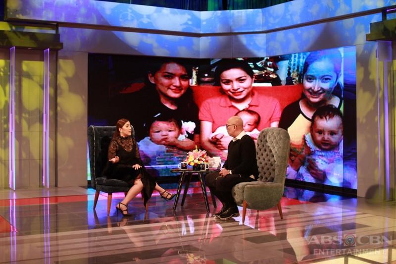 LOOK: Ara Mina's mini-me spreads cuteness on the set of TWBA!