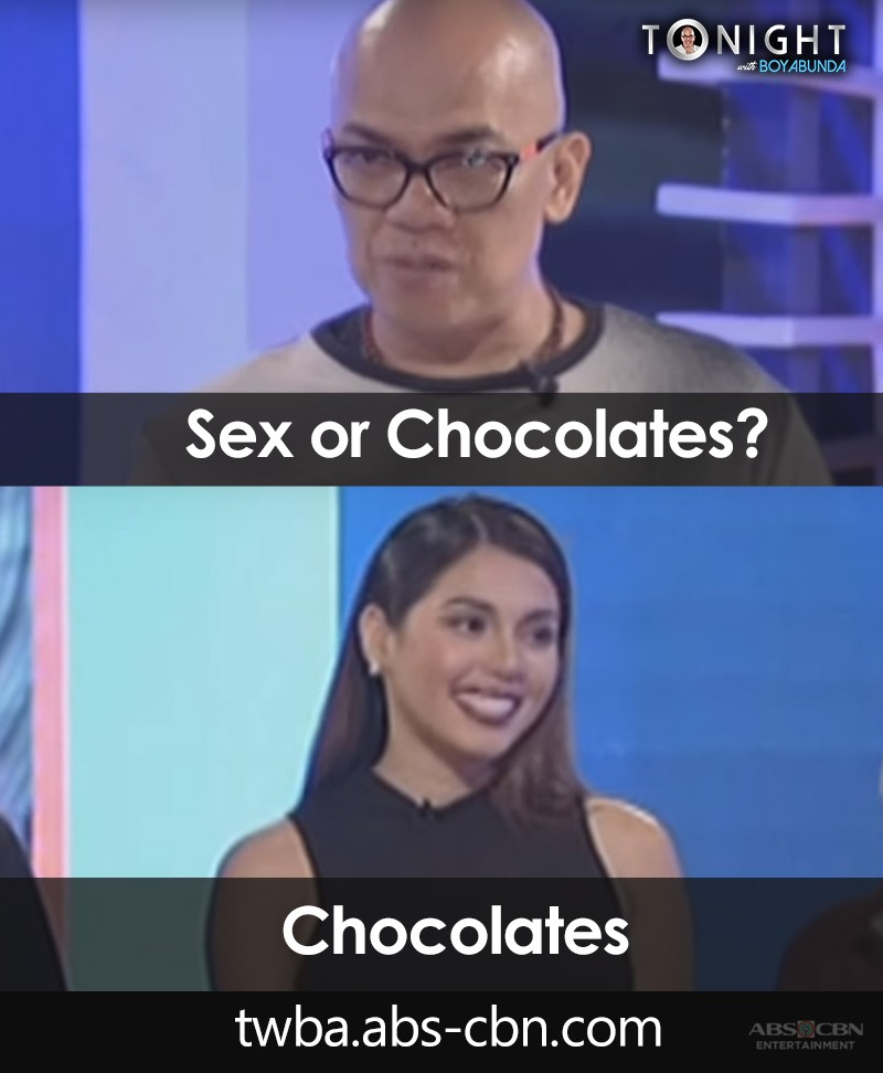 Sweets or sexy time? Here are some TWBA guests who answered the ultimate Fast Talk question!