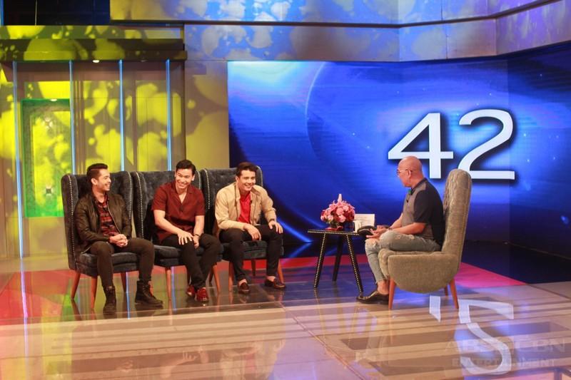 PHOTOS: Ejay Falcon, AJ Muhlach and Enchong Dee on Tonight With Boy Abunda