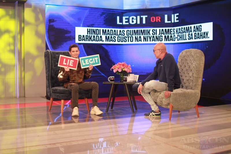 PHOTOS: James Reid on Tonight With Boy Abunda