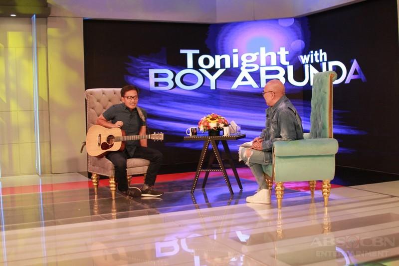 PHOTOS: Ebe Dancel on Tonight With Boy Abunda