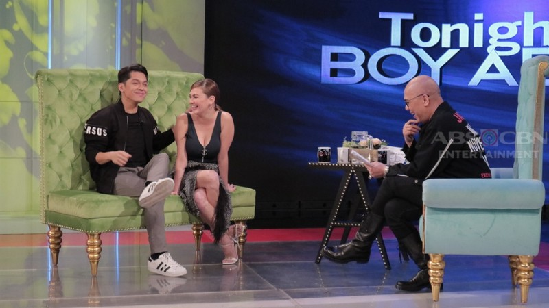 PHOTOS: Angelica Panganiban and Carlo Aquino on Tonight With Boy Abunda