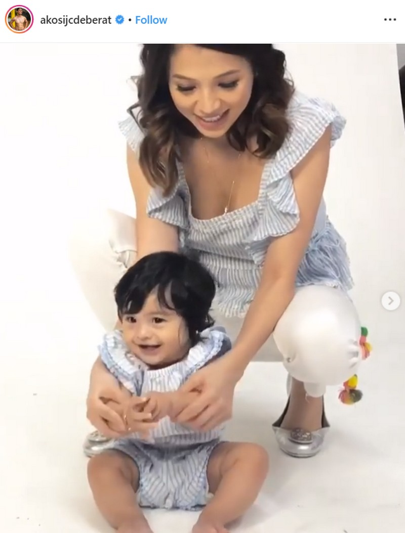 Mana kay daddy? Ilang umaapaw sa cuteness na larawan ni JC De Vera kasama ang kanyang unica hija!