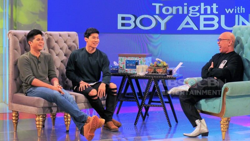 PHOTOS: Enchong Dee and Victor Anastacio on Tonight with Boy Abunda