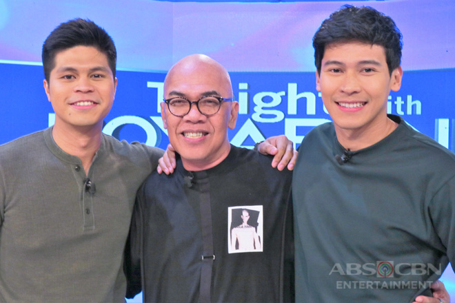 PHOTOS: Enchong Dee and Victor Anastacio on Tonight with Boy Abunda