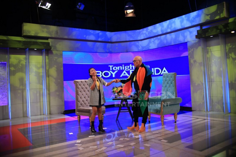 PHOTOS: Lie Reposposa on Tonight with Boy Abunda