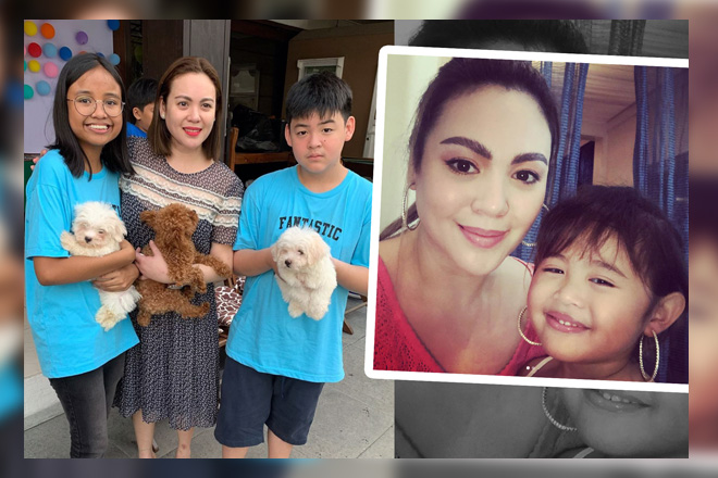 Pinay Optimum Star Claudine Barretto with her beautiful children