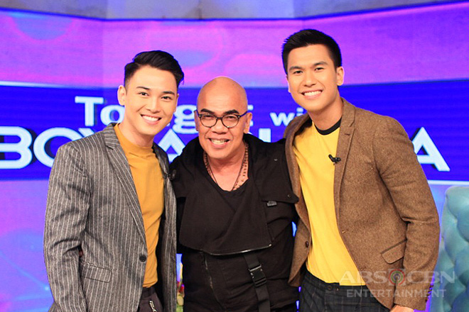 PHOTOS: Gino Roque and Sky Quizon on Tonight With Boy Abunda
