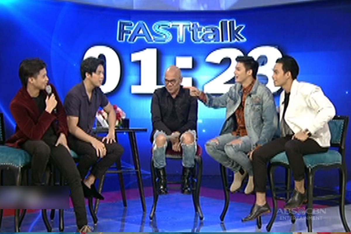 Fast Talk with Elmo Magalona, Diego Loyzaga, Ronnie Alonte and Yves Flores